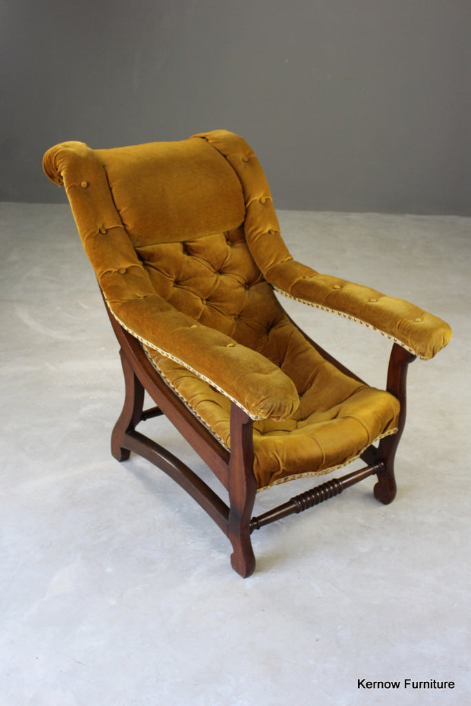 Upholstered Button Back Open Arm Chair : 3857IMG66371024x1024 from kernowfurniture.co.uk size 684 x 1024 jpeg 75kB