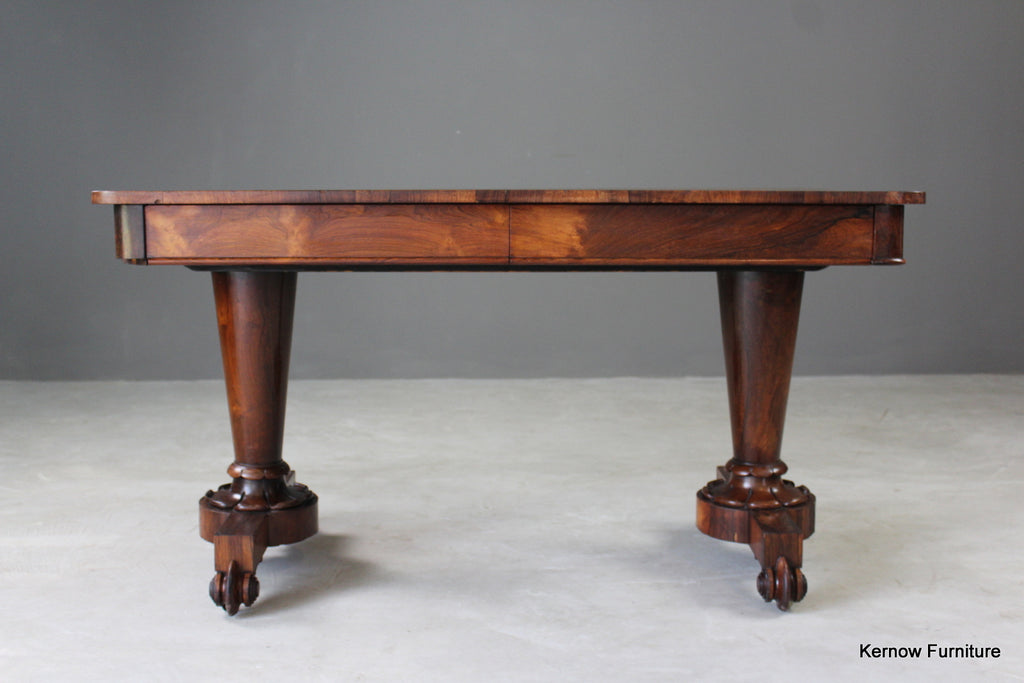 Antique Early 19th Century Rosewood Library Table - vintage retro and antique furniture