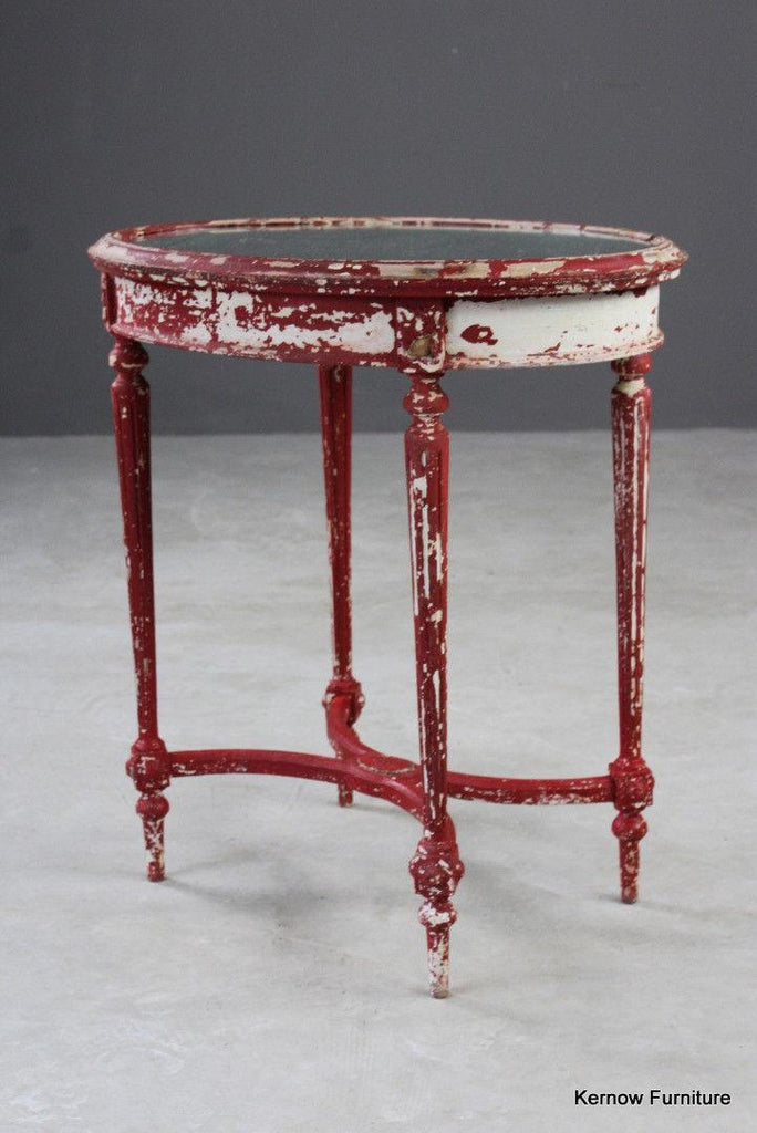 Louis XVI Style Oval Side Table