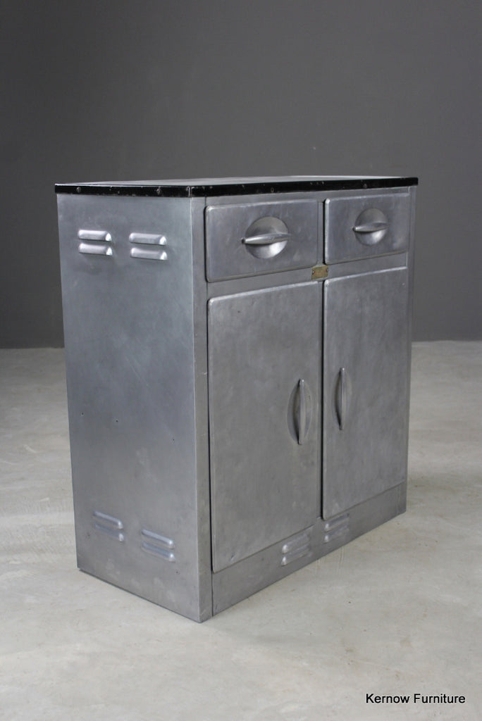 Vintage Aluminium Kitchen Larder Cabinet - Kernow Furniture