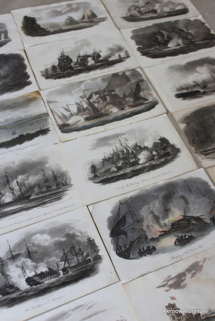 Collection Naval Battle Engravings - Kernow Furniture