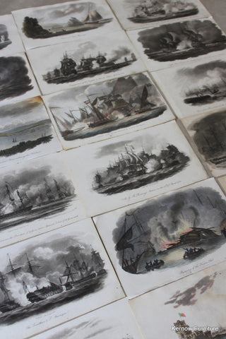 Collection Naval Battle Engravings