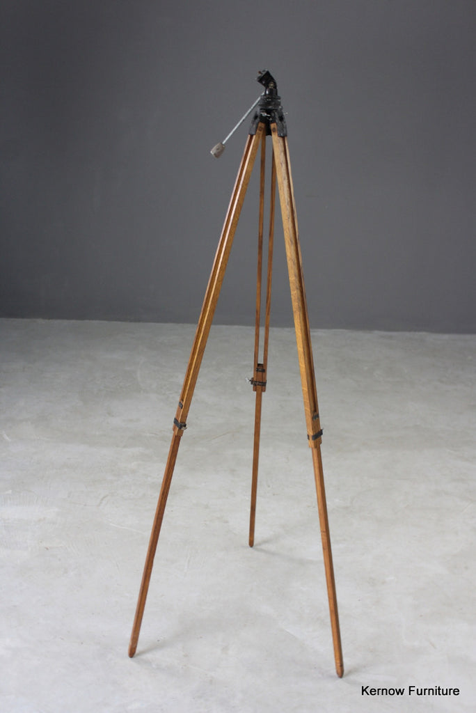 Vintage Wooden Oak Camera Tripod