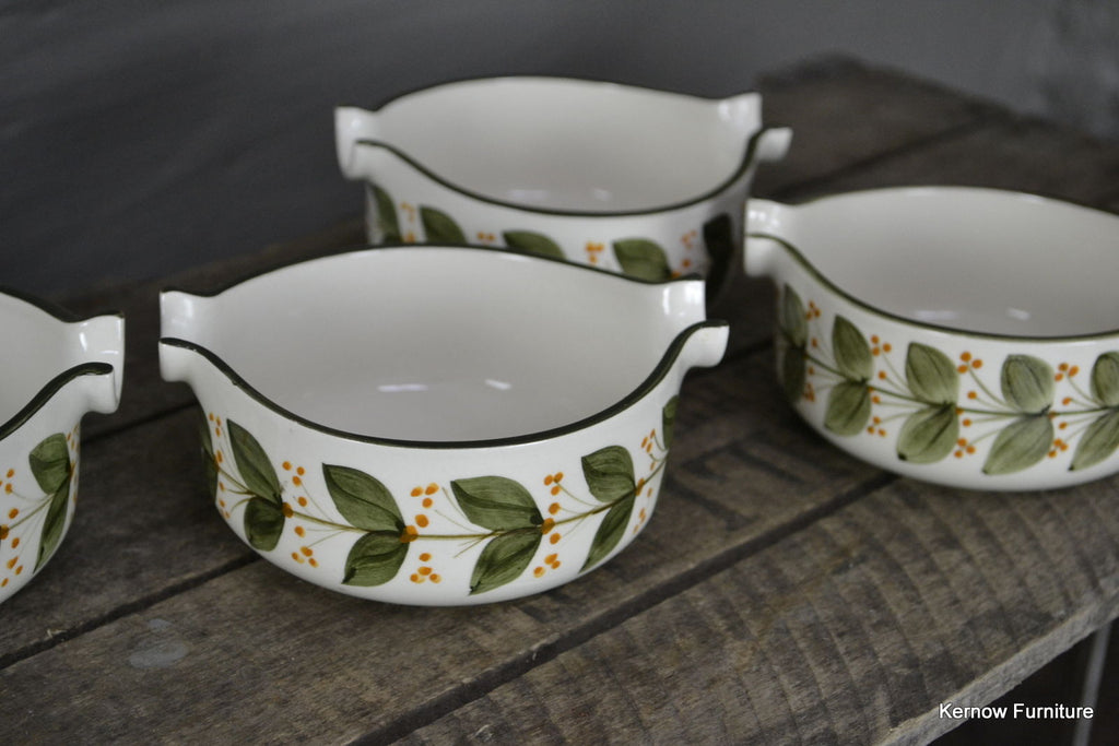 4 Jersey Pottery Bowls - vintage retro and antique furniture