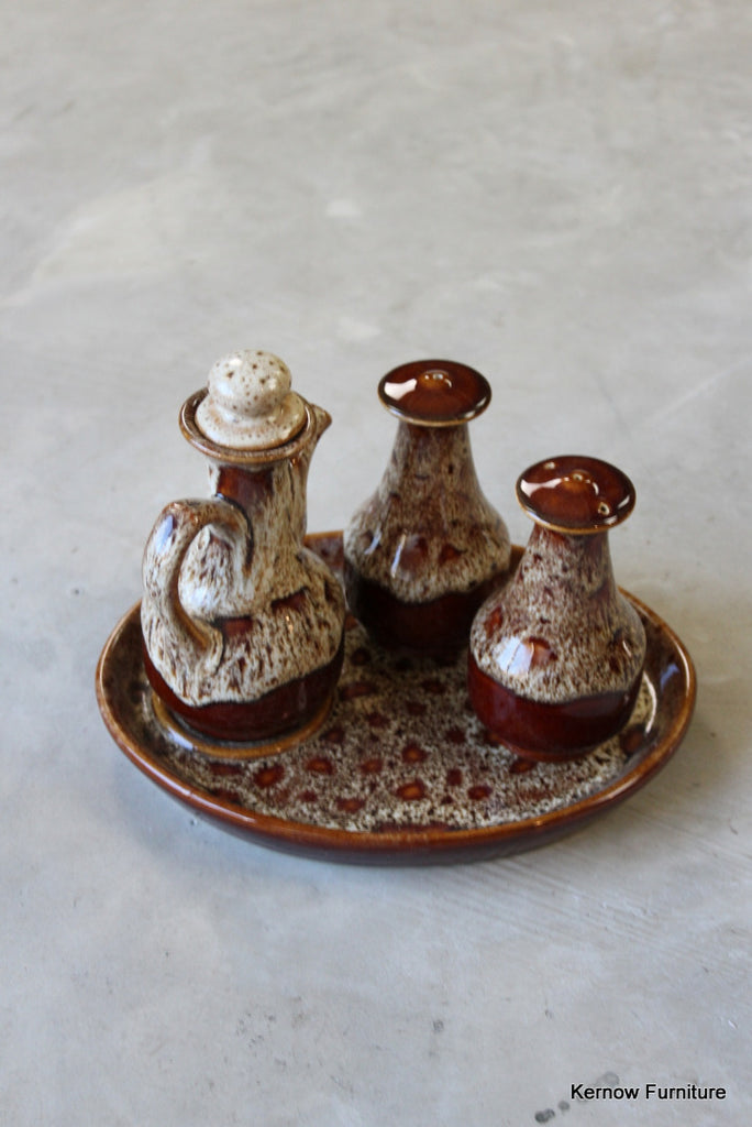 Fosters Pottery Salt & Pepper Oil Set