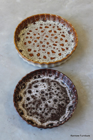 Pair Fosters Pottery Quiche Dishes - Kernow Furniture