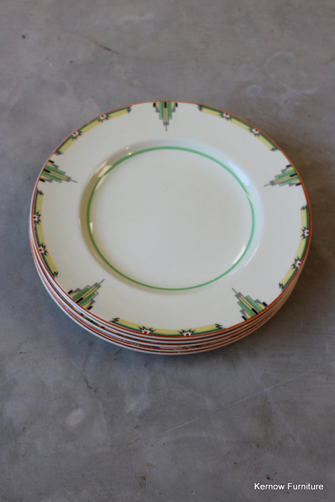 Woods Ivory Ware Plates x 4