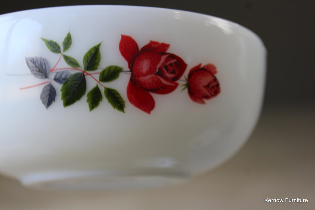 JAJ Pyrex Rose Bowls x 6 - Kernow Furniture
