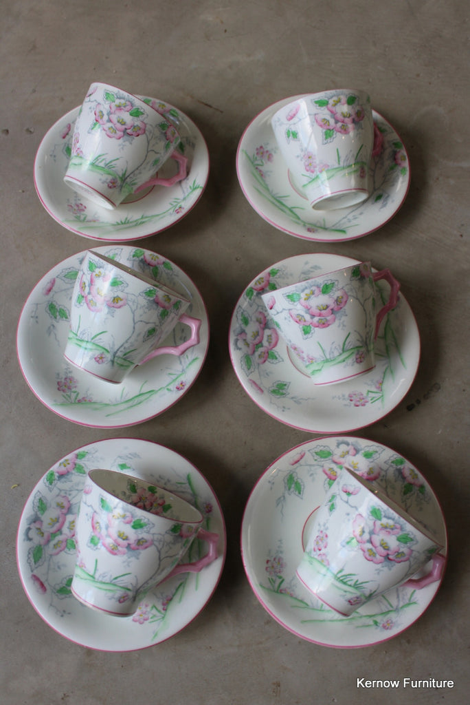 C W S Fantasy 6 Cups & Saucers - Kernow Furniture