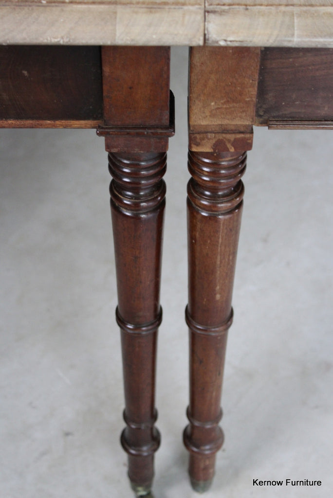 Pair Bleached Mahogany Georgian Side Tables - Kernow Furniture