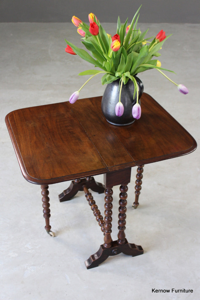 Antique Mahogany Small Sutherland Table - vintage retro and antique furniture