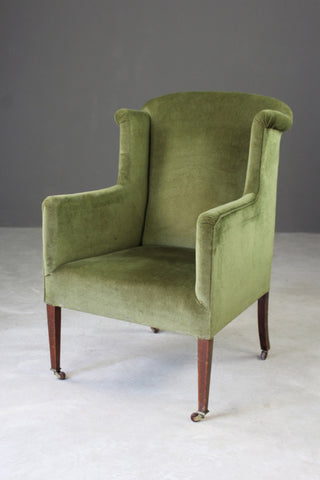 Edwardian Green Armchair