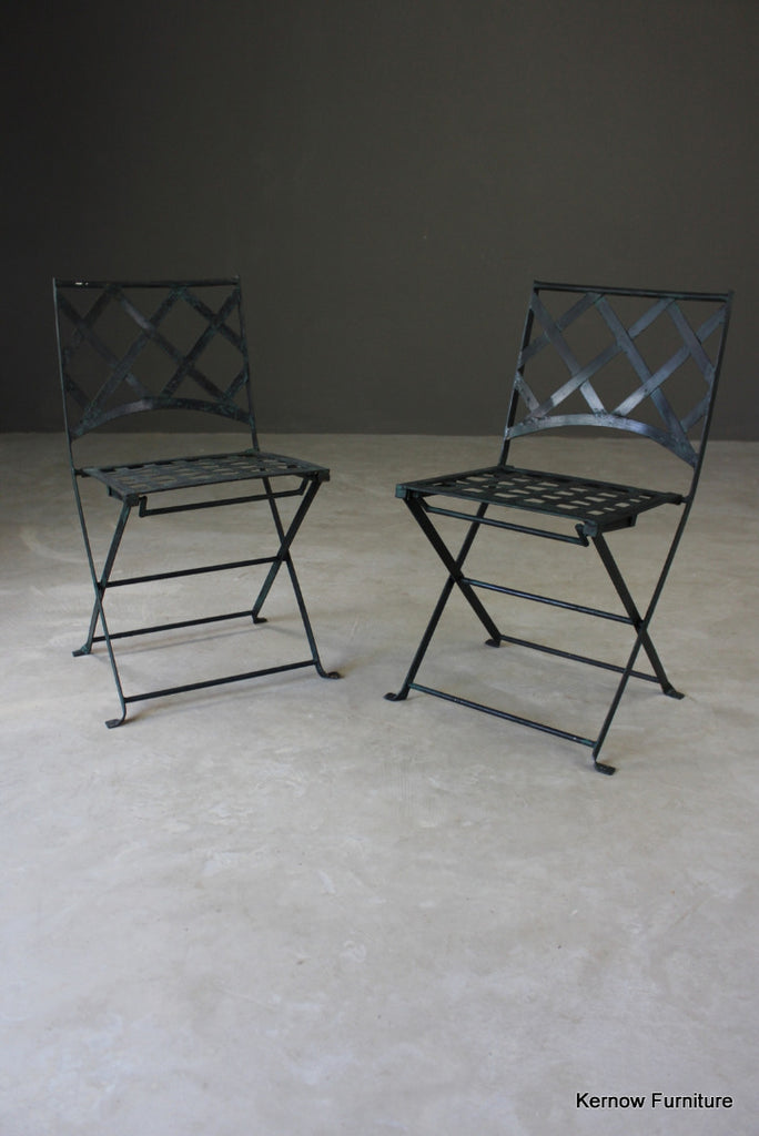 Pair Metal Garden Chairs