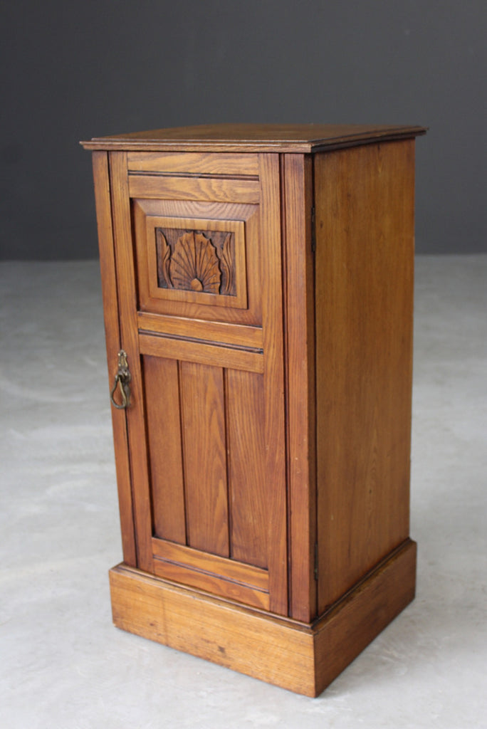 Small Elm Bedside Cabinet - Kernow Furniture