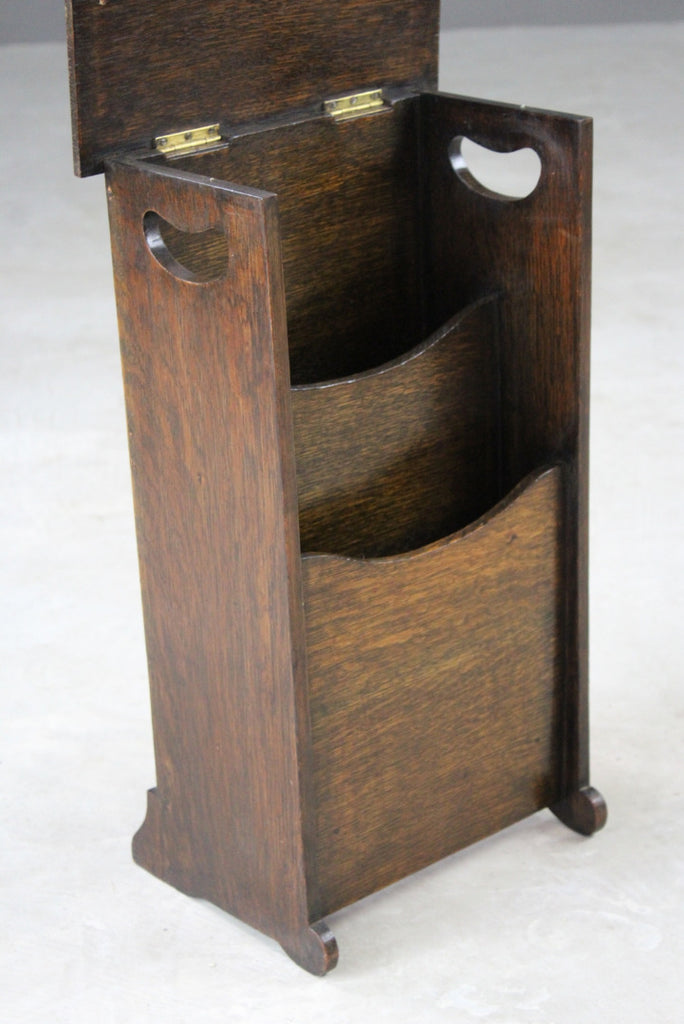 1930s Oak Magazine Rack - Kernow Furniture