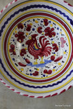 Deruta Rooster Serving Bowl - Kernow Furniture