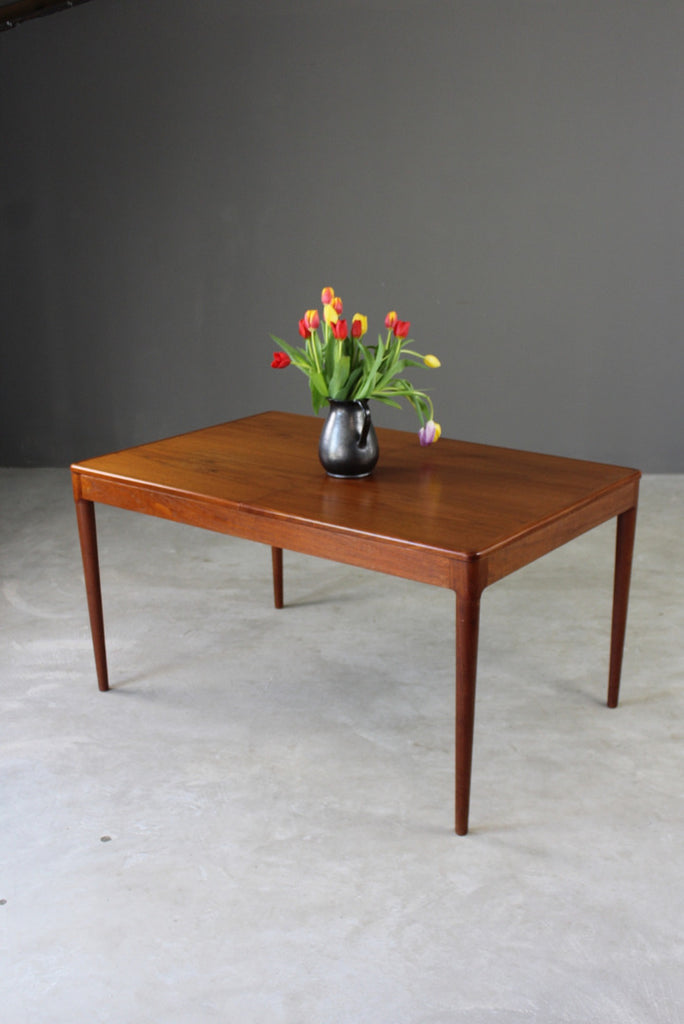 Arne Hovmand Olsen Danish Teak Dining Table - vintage retro and antique furniture