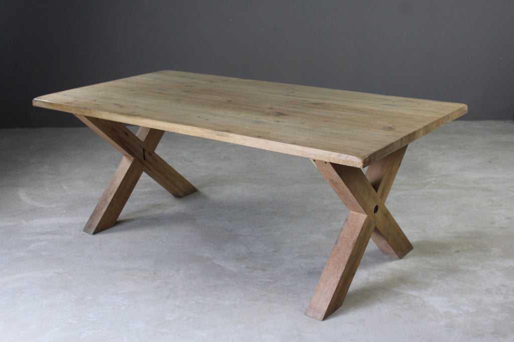 Oak Refectory Dining Table - Kernow Furniture