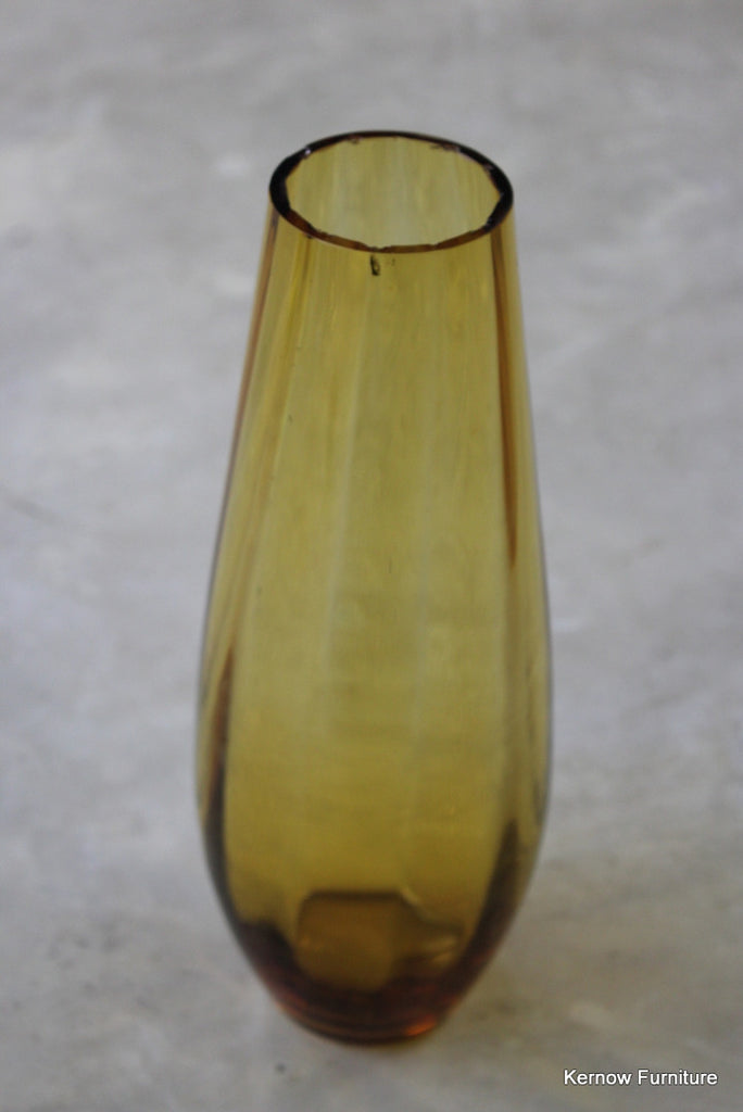 Amber Glass Vase - Kernow Furniture