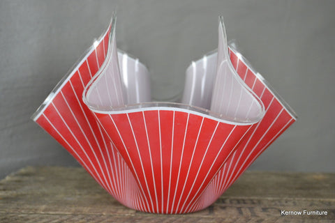 Large Chance Glass Red Hankerchief - Kernow Furniture 100s vintage, retro & antique items in stock