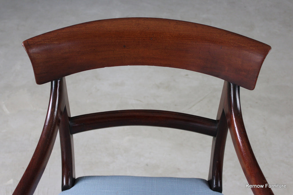 Antique William IV Mahogany Carver Chair - Kernow Furniture
