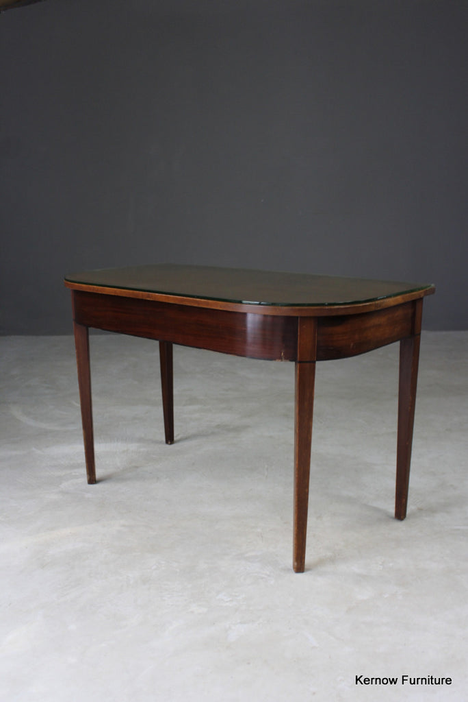 Antique Mahogany D End Table - vintage retro and antique furniture