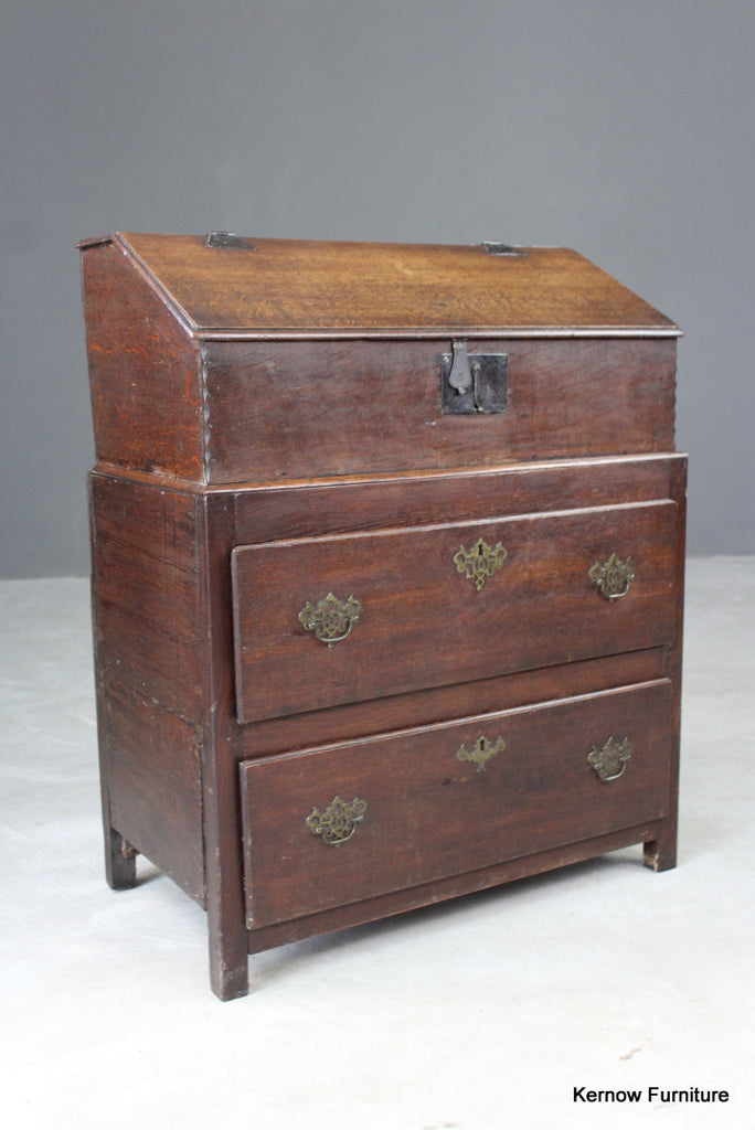Antique Oak Bible Box & Base - Kernow Furniture