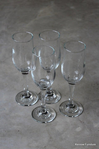 4 Champagne Flutes - vintage retro and antique furniture
