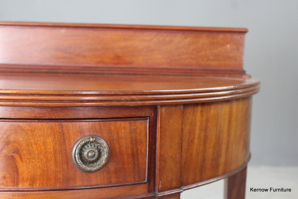 Edwardian Mahogany Two Tier Side Table - Kernow Furniture