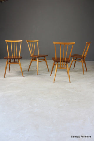 4 Ercol All Purpose Dining Chairs - vintage retro and antique furniture