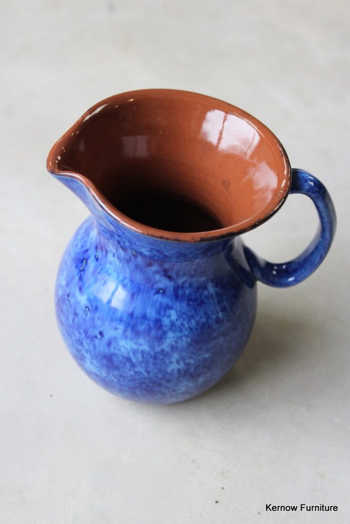 Blue Glazed Jug - Kernow Furniture