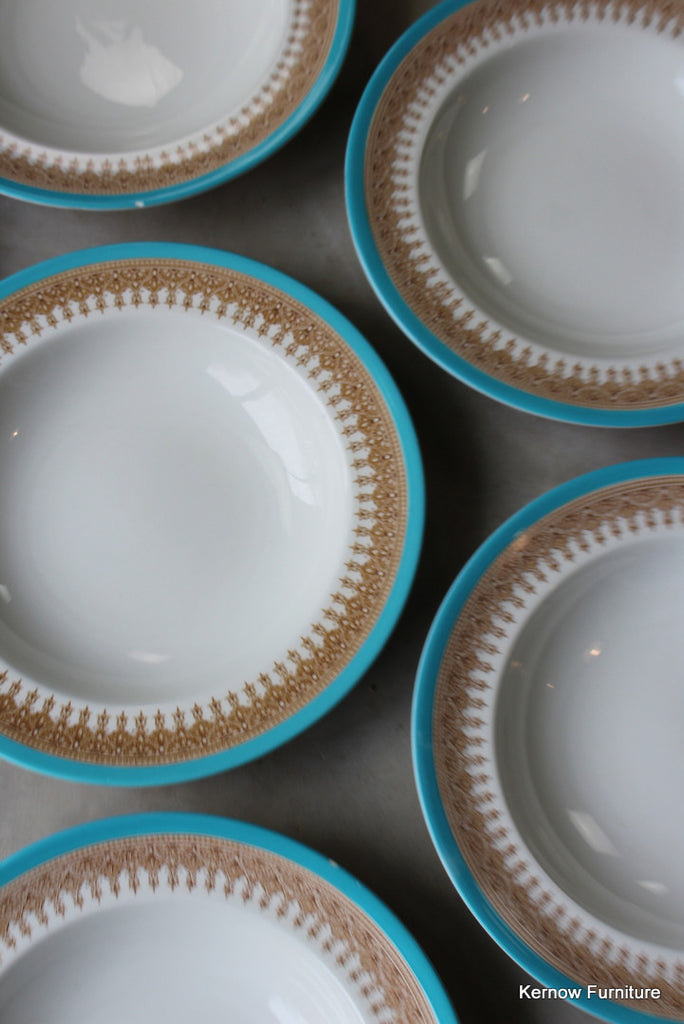 Royal Worcester Vitreous Soup Plate x 6