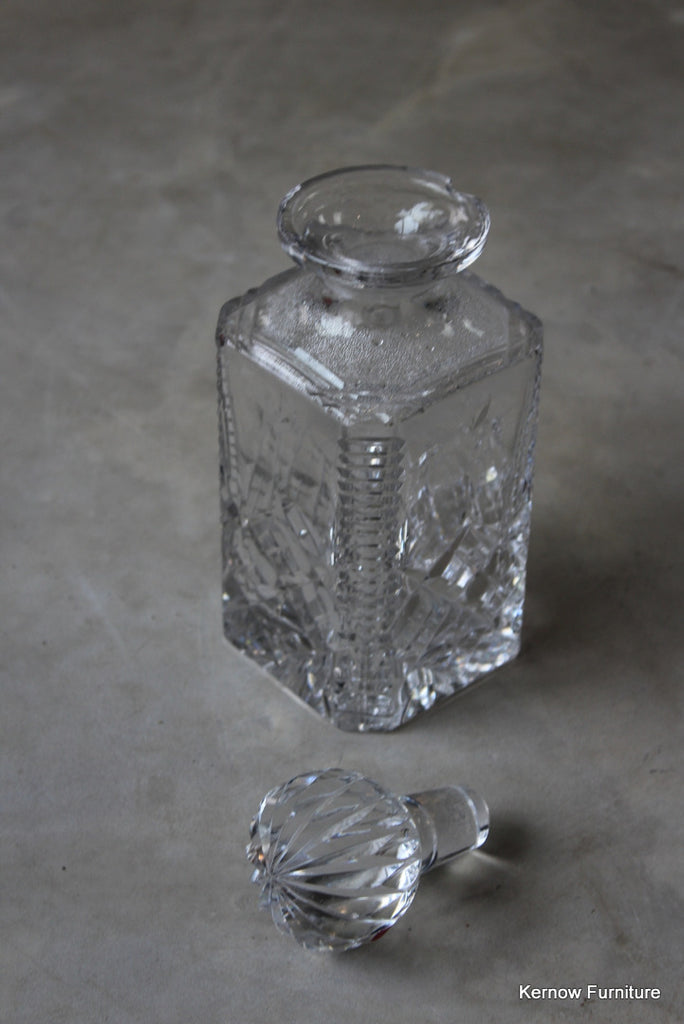 Antique Cut Glass Decanter - vintage retro and antique furniture