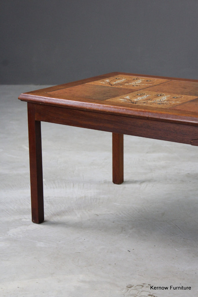 Retro Danish Teak Tiled Coffee Table - Kernow Furniture