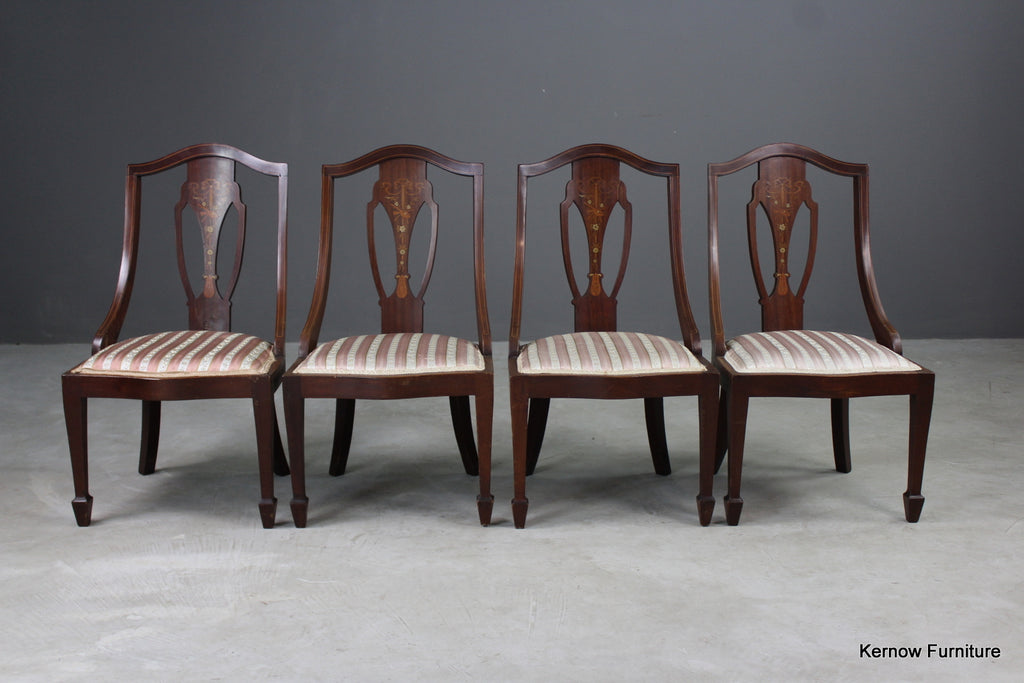 Set 4 Antique Parlour Chairs - Kernow Furniture