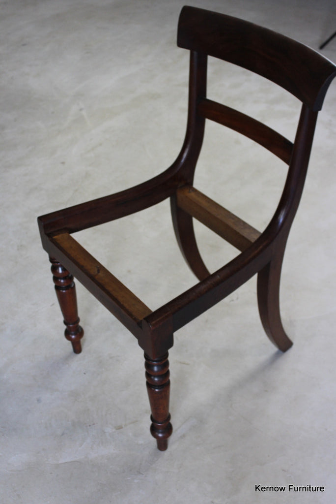 - 6 Antique Mahogany Bar Back Dining Chairs