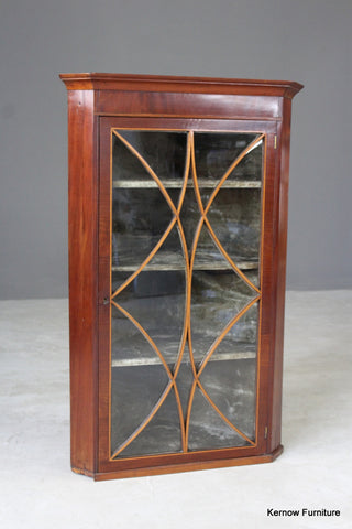 Antique Astragal Glazed Corner Cabinet - vintage retro and antique furniture