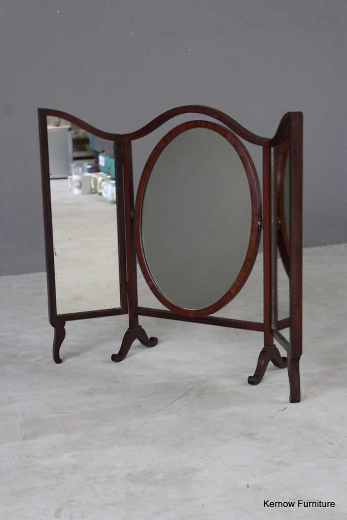 Antique Mahogany Dressing Table Mirror - Kernow Furniture