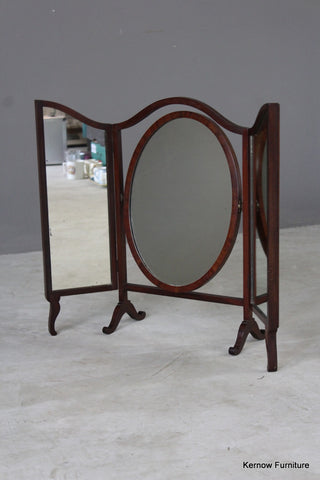 Antique Mahogany Dressing Table Mirror - vintage retro and antique furniture