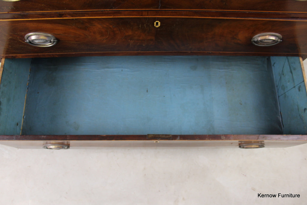 Antique Mahogany Straight Front Chest of Drawers - Kernow Furniture