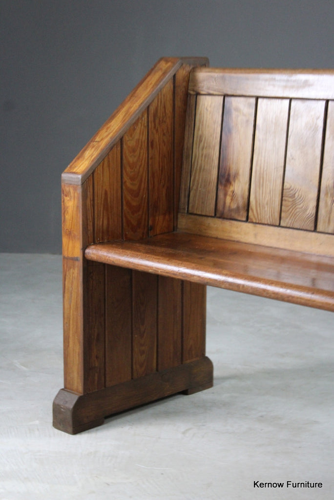 Small Pitch Pine Pew - Kernow Furniture