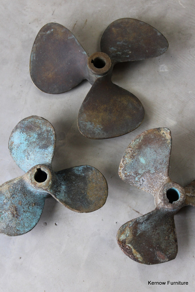 3 Bronze Ships Propellers - vintage retro and antique furniture