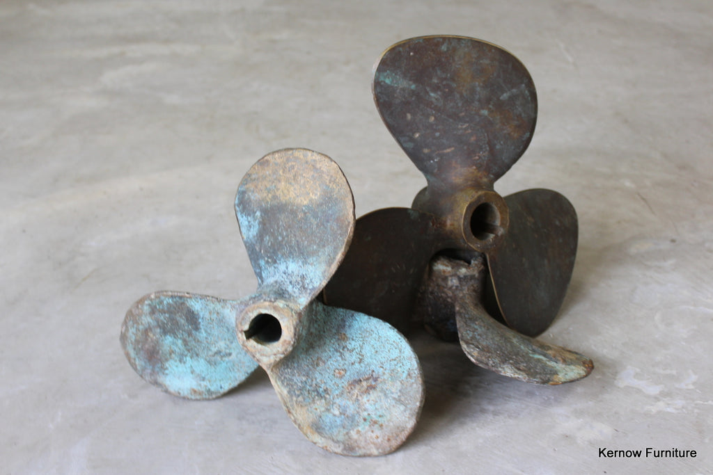 3 Bronze Ships Propellers - Kernow Furniture