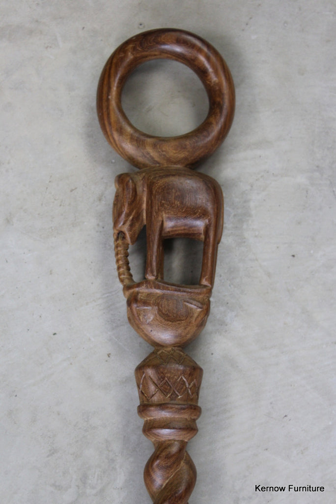 Carved African Walking Stick