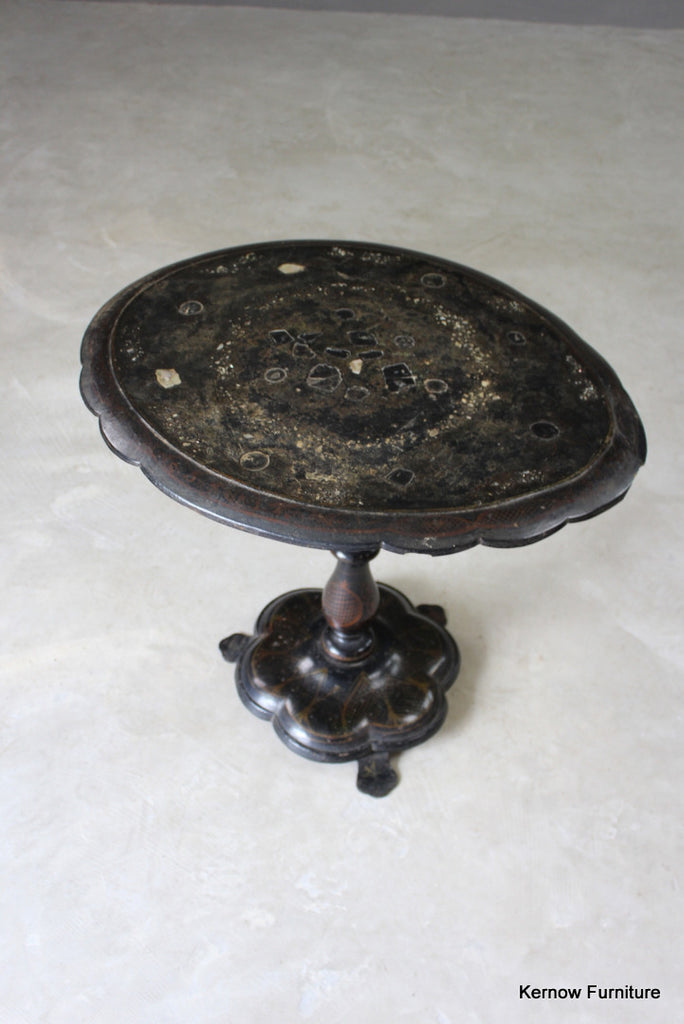 Victorian Papier Mache Tilt Top Centre Table - Kernow Furniture