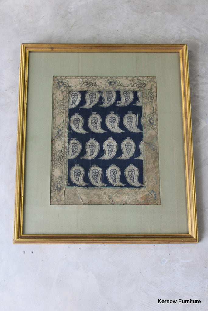 Eastern Framed Silk Panel