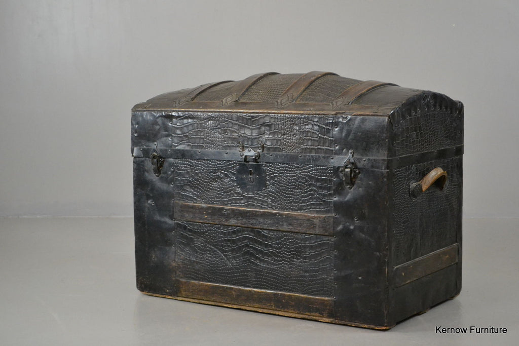 Antique Dome Top Trunk - vintage retro and antique furniture