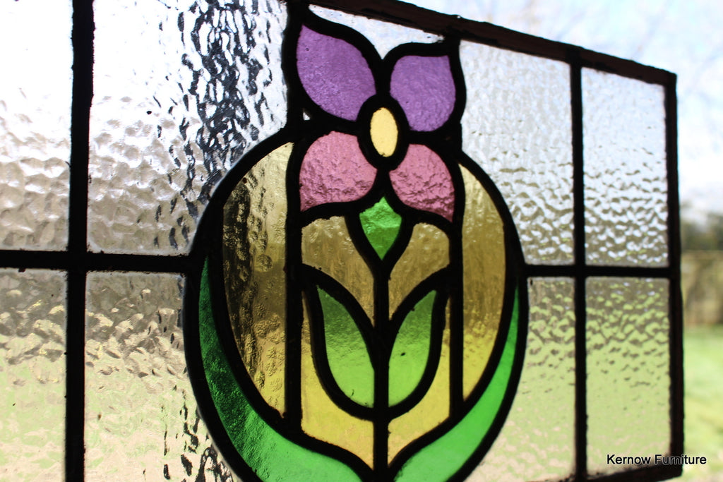 Single Stained Glass Panel - Kernow Furniture