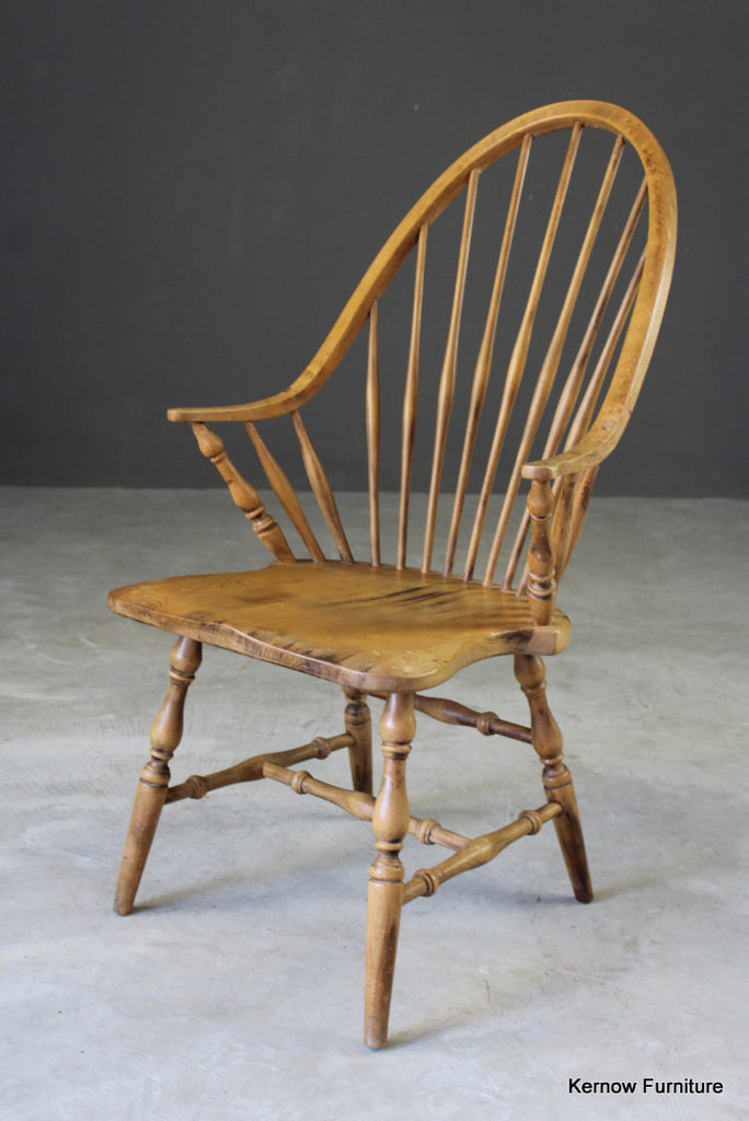 Beech Stick Back Windsor Chair - vintage retro and antique furniture