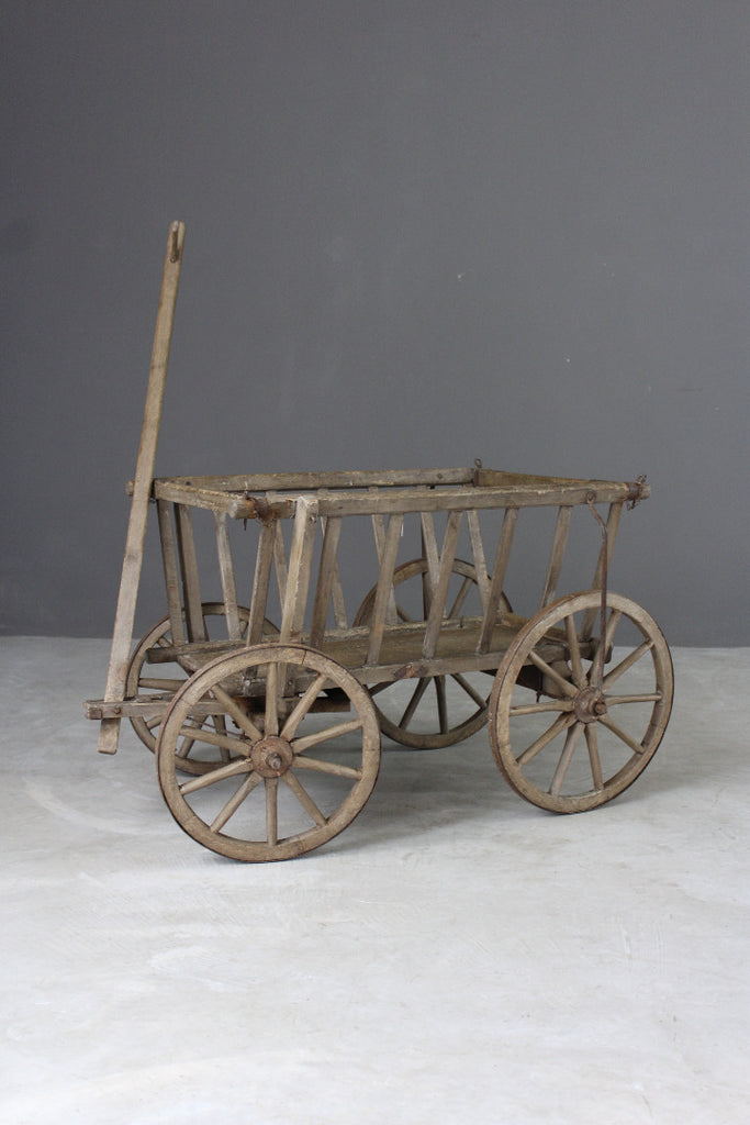 Antique Beech & Pine Dog Cart - vintage retro and antique furniture
